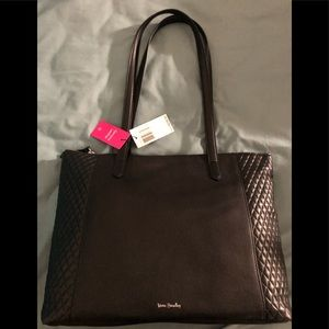 NWT leather Vera Bradley zip tote